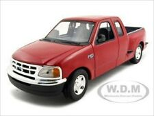 FORD F-150 FLARESIDE SUPERCAB PICKUP TRUCK RED 1/24 DIECAST MODEL MOTORMAX 73284