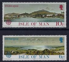 1977 ISLE OF MAN EUROPA: LANDSCAPES SET OF 2 FINE MINT MNH/MUH