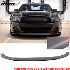 13-14 Mustang V6 GT Style Front Bumper Lip Spoiler - Polyurethane (PU)