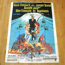 007 UNA CASCATA DI DIAMANTI poster manifesto Bond Connery Diamonds Are Forever
