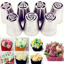 7pcs Russian Flower Tulip DIY Pastry Cake Icing Piping Nozzles Tips Baking Tool