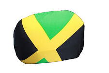 JAMAICA COUNTRY FLAG CAR SIDE MIRROR COVERS..2 IN A PACK..NEW