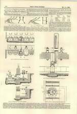 1896 Waterpower Small Fall Turbines Foyers Brantham Mills Chauxdefonds