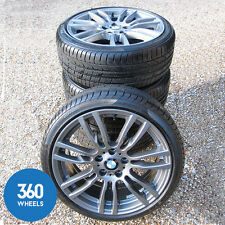 "GENUINE BMW 19"" 403 M SPORT STAR SPOKE FERRIC GREY ALLOY WHEELS TYRE F30 F31 F32"