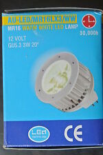 Genuine aurora MR16 3W MR16 12v faible lv cree ampoule led 3300k blanc chaud 20 degré