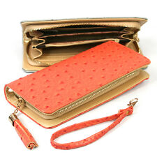 Women's Faux Leather Long Purse Clutch Bag Wallet Coin Phone Holder Lady Girl