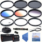 52mm Lens Filter Slim UV CPL Graduated ND4 Close-up 6 Point Star for Nikon D7000