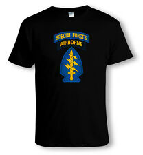 US ARMY, SPECIAL FORCES AIRBORNE Insignia MILITARY T-SHIRT Sizes to 4XL