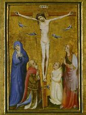 MASTER SAINT VERONICA GERMAN CRUCIFIXION OLD ART PAINTING POSTER BB6165A