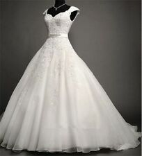 Wedding dress  gown custom lace and organza  any size white or ivory