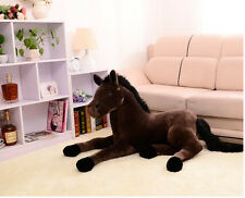 brown plush simulation horse toy stuffed horse doll gift about 70cm