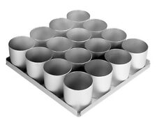 "Individual Larger 3"" 75mm Metal Round Cake Tins Pans Large Sized Set of 16"