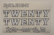 "Raleigh ""TWENTY"" bike decal/stickers, set of 4"