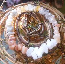 HIGH VIBRATION AZEZTULITE SET BRACELET HIMALAYAN GOLD PINK SANDA ROSA SATYALOKA