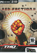 RED FACTION II 2 Shooter PC Game THQ FPS Windows 98-XP