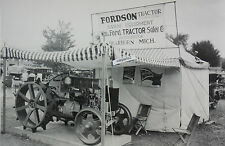 """12 By 18"""" Black & White Picture 1920's Fordson Tractor, cut away on display"""
