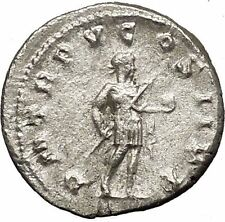 GORDIAN III with symbol of power 242AD Silver Ancient Roman Coin i53156