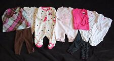 Lot of 4 Infant Baby Girl Winter Footie Sleepers Clothes Outfits Size 3 months