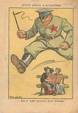 Caricature Politique Alsace Lorraine Catholique Bottes Communiste Bolchevik 1936