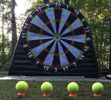 Giant Dartboard inflatable 10' x 10 and 4 x Velcro Darts Footballs UK company.