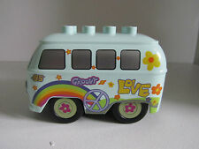 Lego Duplo Disney Pixar 2 Cars Hippie Bus Fillmore Vehicle Volkswagon Peace Love