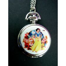 NEW Disney Princess Snow White Ladies Girl Fashion Pocket Pendant Watch Necklace