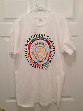 Vintage 1991 Operation Desert Shield Storm International Coalition T-Shirt Large