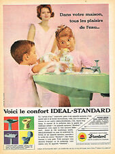 PUBLICITE ADVERTISING 015  1960  IDEAL-STANDARD  sanitaires lavabos