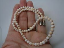 VINTAGE SHELL BEADED NECKLACE BARREL CLASP PARTY PROM FESTIVAL