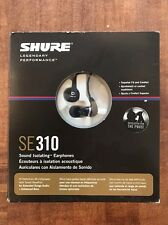 Shure SE310 Sound Isolating Earphones Headphones SE310-A-K-EFS Complete in Box!