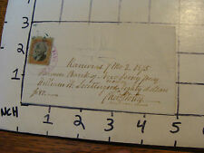 Cancelled Check: 1875 FARMERS NATIONAL BANK OF NEW JERSEY  hand written