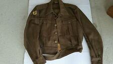 Danish Military Wool Battledress Ike Uniform Jacket Post WW2 1951 Dated