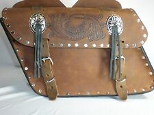 INDIAN SCOUT Motorcycle Leather Saddle Bags Light Brown PU42LR