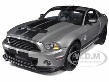2013 FORD SHELBY GT500 SVT COBRA GREY W/BLACK 1/18 BY SHELBY COLLECTIBLES SC395