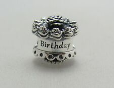 New Authentic Pandora 925 Sterling Silver Charm Happy Birthday Cake 791289