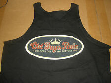 """OLD GUYS RULE """" CROWN """" THE OLDER I GET....THE BETTER I WAS BEACH TANK TOP  XL"""