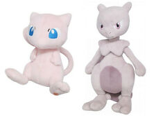 NEW Set of 2 Sanei Pokemon All Star Collection Plush Dolls PP20 Mew/PP24 Mewtwo