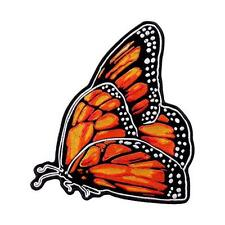 Upwing Butterfly  EMBROIDERED 4.0 INCH IRON ON PATCH