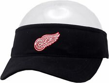 Detroit Red Wings Visor Black Adjustable Strap Logo Block 11823