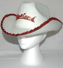 Fancy Dress England Cow Girl Ladies Hat White with Red England Badge A003.83