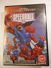 SEGA MEGA DRIVE SPEEDBALL 2 GAME MEGA DRIVE SYSTEM + MANUAL