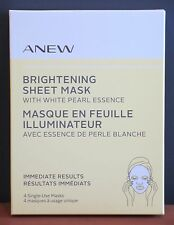 Avon Anew Brightening Sheet Mask With Pearl Essence 4 Count $30 NIB
