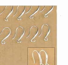100Pcs 925 Sterling Silver Hook Earring Pinch Smooth Ear Wires Women Gift