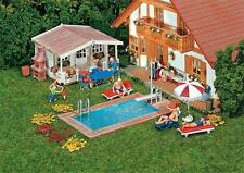 Faller 180542 H0 Swimming-Pool und Gartenhaus