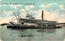 Excursion Steamer on the Missouri River, Kansas City MO