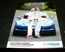 MAZDA RX-8 FORMULA WOMAN CHAMPIONSHIP PRESS PHOTOGRAPH FEB 2004