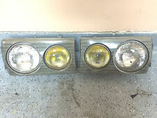 1984 Mercedes Benz W123 Right and Left  Side Front  HEADLIGHT COMPLETE 300D 280e