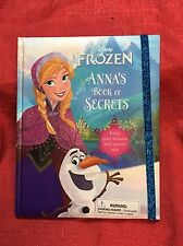 Disney Frozen Anna Sparkling Keepsake Book of Secrets Journal - NWT Hardcover