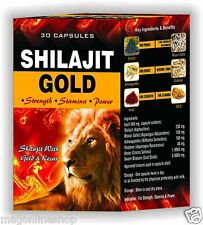 Shilajit With Gold & Kesar Capsule Strength ★ Stamina ★ Power Capsules 30pcs