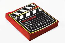 HOLLYWOOD MOVIE FILM CLAPPER BOARD PACK SET 16 NAPKINS PARTY PARTYWARE TABLEWARE